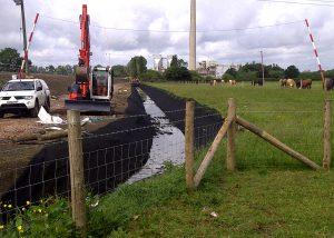Network Rail Embankment reinforcement work