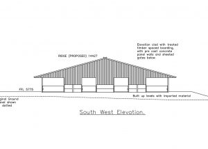 Elevation of new cubicle building