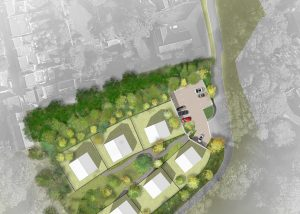 Plan of the Passive House development at Cox's Quarry