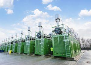 Gas peak-power generation plant