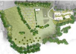 Plan of new car park at Combe Grove Hotel